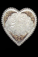 Silver Heart Belt Buckle