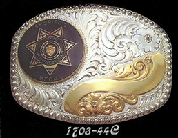 Coin Buckle or Medallion Belt Buckle